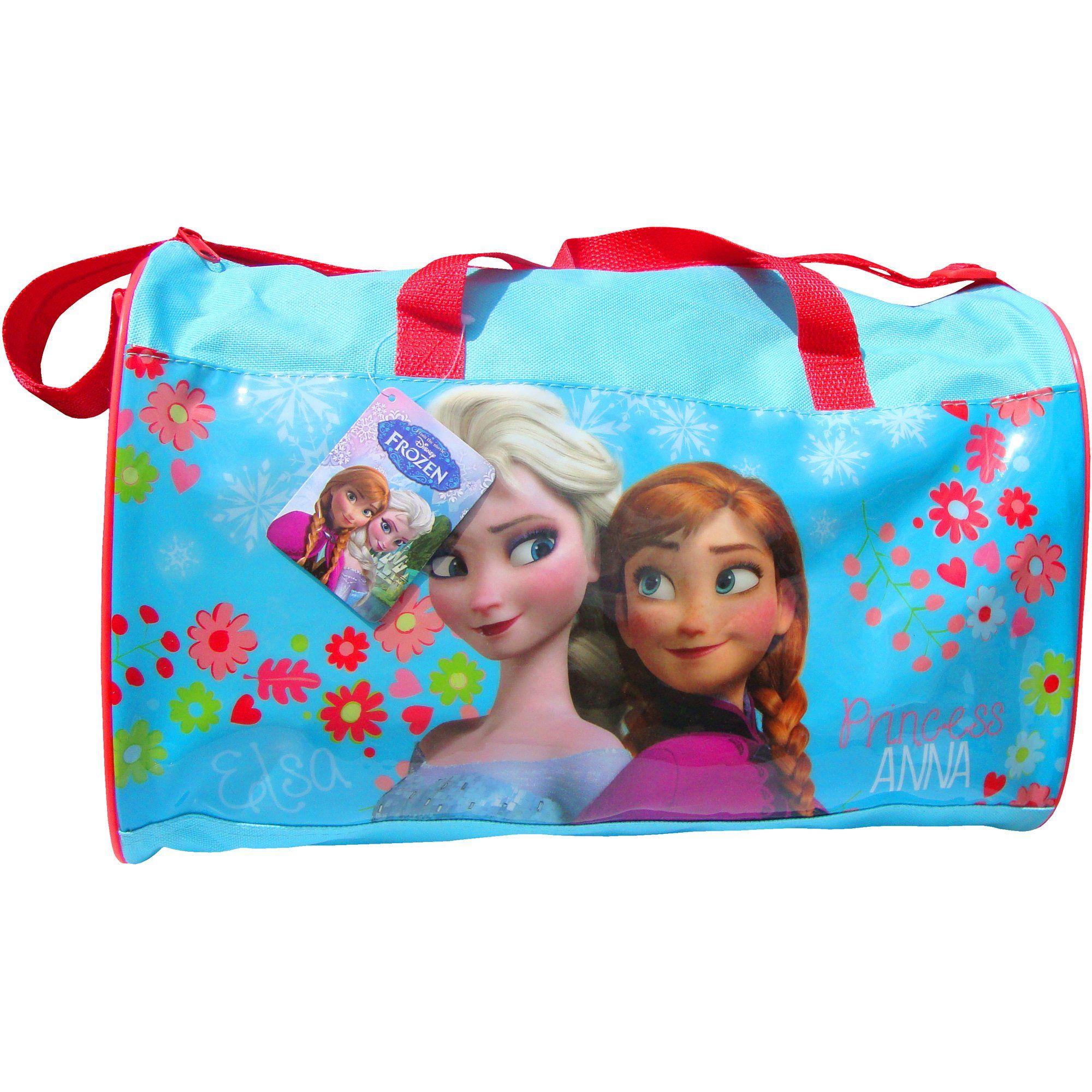 Disney frozen elsa anna sleepover holdall travel bag