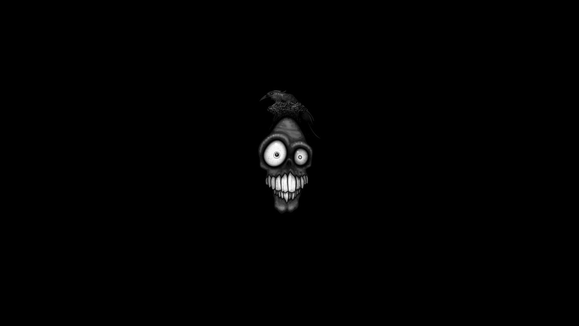 Funny Face Image 16841 Wallpaper Dark Desktop Backgrounds Cool Wallpapers Black And White Cool Backgrounds Wallpapers