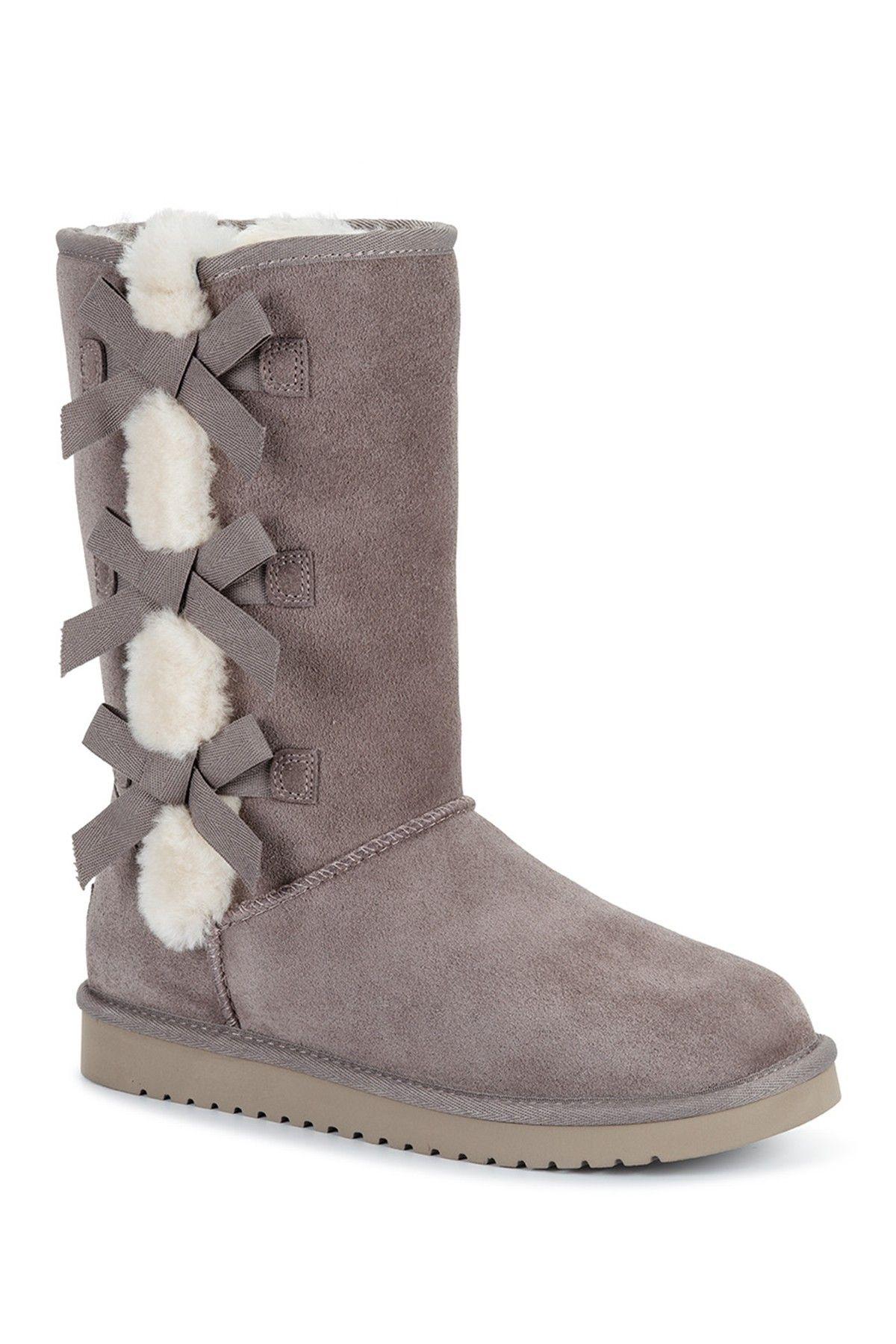980736764a3 Victoria Tall Genuine Dyed Shearling Trim   Faux Fur Boot