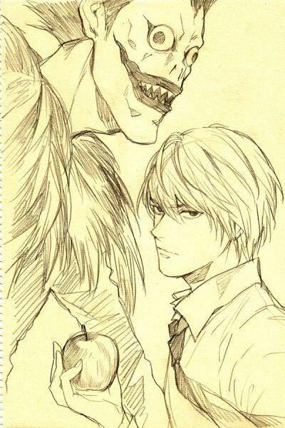 Pin di davide di su anime death note shinigami e idee for Disegnare progetti