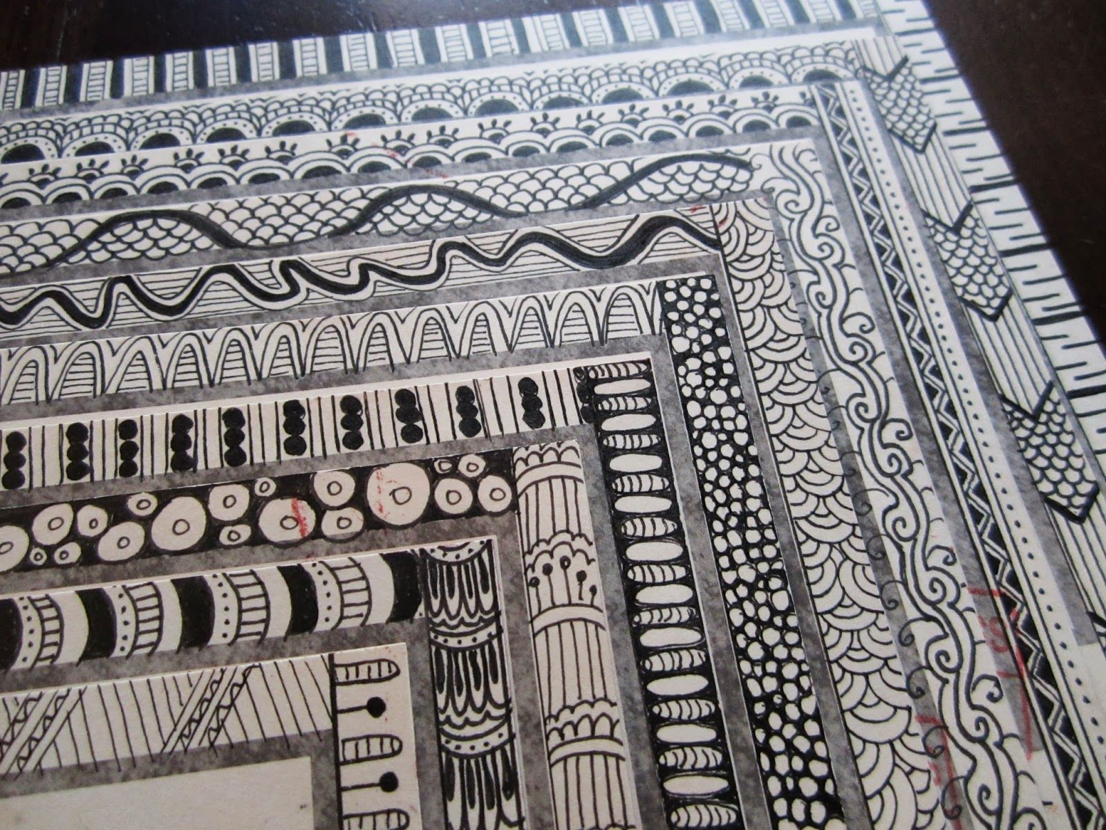 Rubber Stamp And Zentangle Mail Art Zentangle Patterns