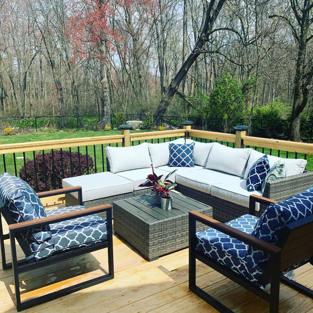 Cherry Point 4 Piece Outdoor Sectional Set Ashley Furniture Homestore Patio Furniture Layout Outdoor Pool Furniture Contemporary Outdoor Furniture