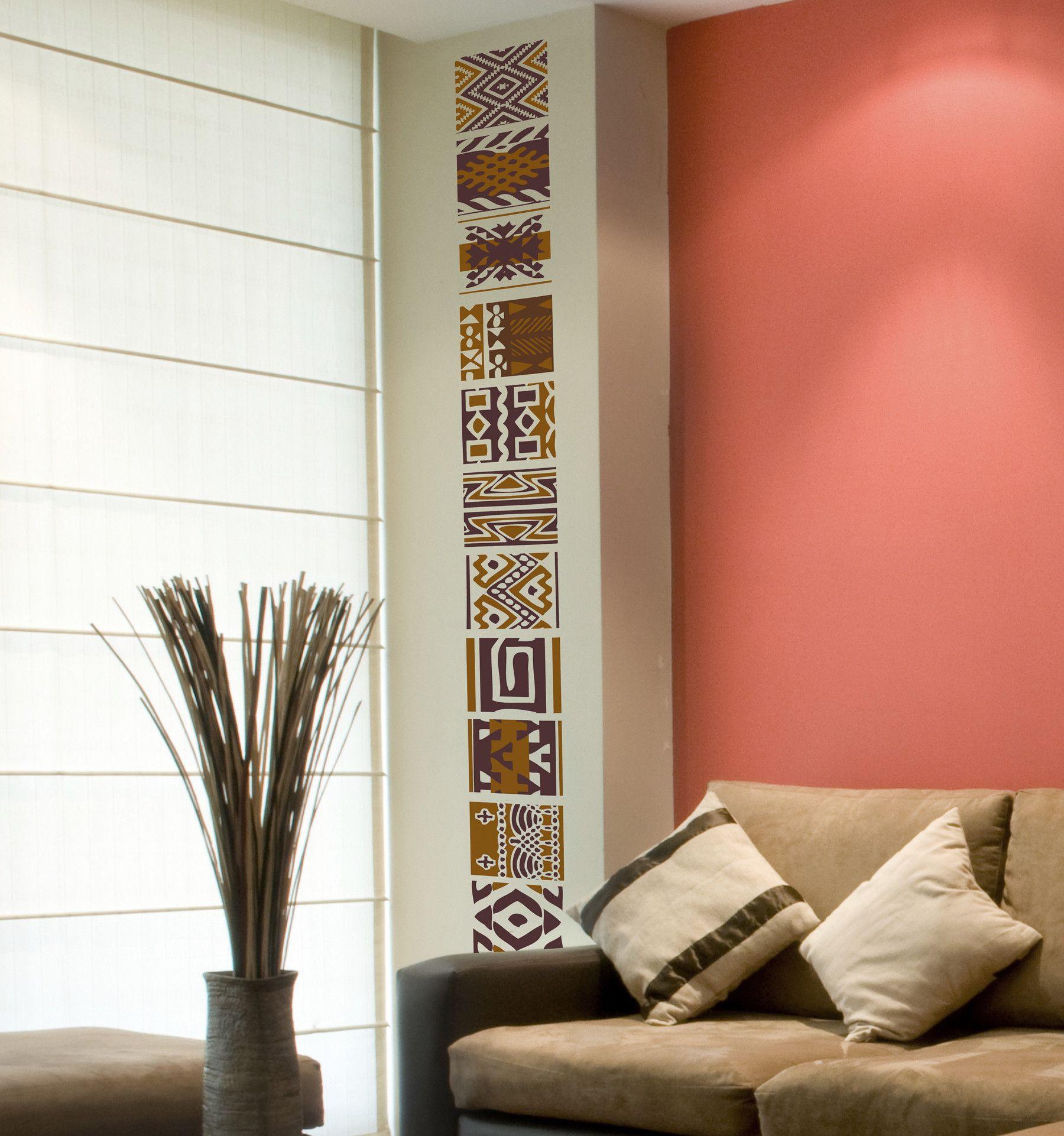 Euro Tribal 16 Piece Wall Decal Set
