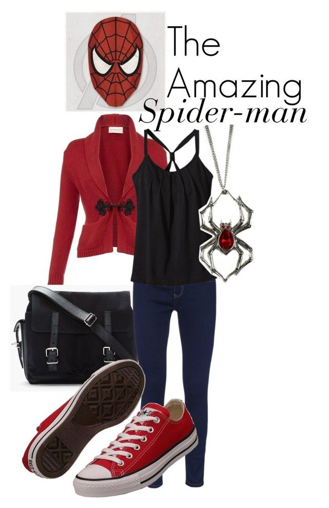 """Spider Man"" by marvelfashion ❤ liked on Polyvore featuring Denim & Supply by Ralph Lauren, Proenza Schouler, ONLY, Patagonia, Converse, inspiration, marvel, superhero, marvel fashion and spider man"