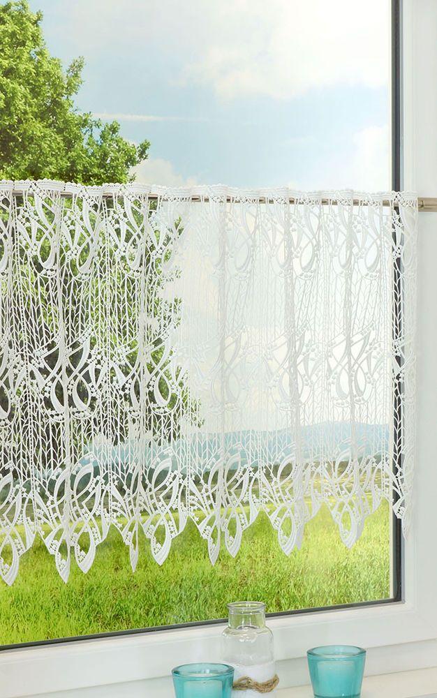 scheibengardine aus plauener spitze arabeske naturwei gardinen gardinen vorh nge. Black Bedroom Furniture Sets. Home Design Ideas