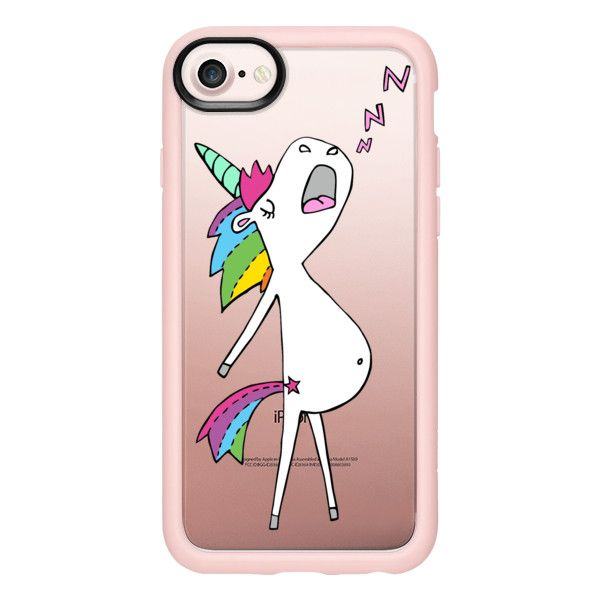 Sleepy Unicorn (Unisarvinen) - iPhone 7 Case And Cover (635 ARS) ❤ liked on Polyvore featuring accessories, tech accessories, phone cases, iphone case, clear iphone case, iphone cover case, unicorn iphone case, apple iphone case and iphone cases