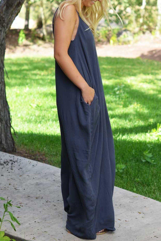 Navy Blue Loose Cami Maxi Dress Maxi Dress Cami Maxi Dress Boho Maxi Dress [ 1500 x 1000 Pixel ]