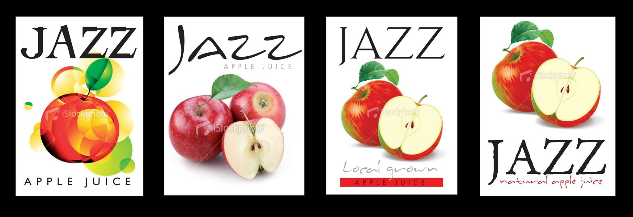 Concepts: Jazz Apple Bottle Labels, first stage.