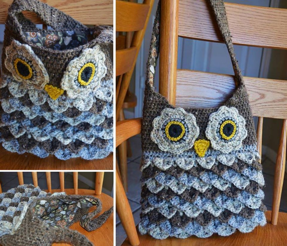 Crocodile owl stitch purse pattern is perfect beginner diy owl crochet owl bag bankloansurffo Images