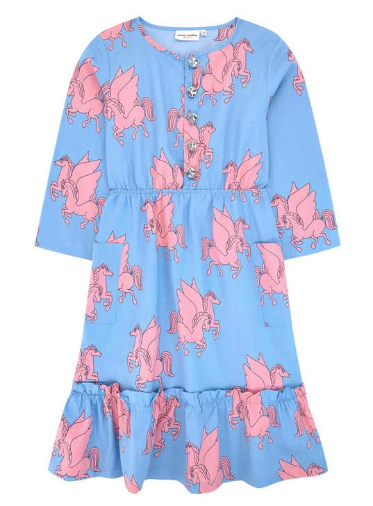 0fce9475007ea Printed organic cotton dress Mini Rodini for girls | Melijoe.com ...