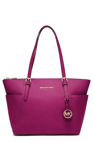 37dd7380bac5a Free shipping and returns on MICHAEL Michael Kors  Jet Set  Leather Tote at  Nordstrom.com. Raised logo letters grace the scratch-resistant leather of a  ...