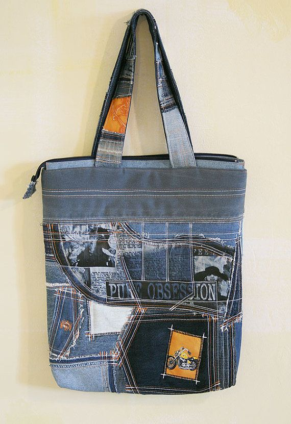 Denim bag Pure obsession by DenimAge on Etsy