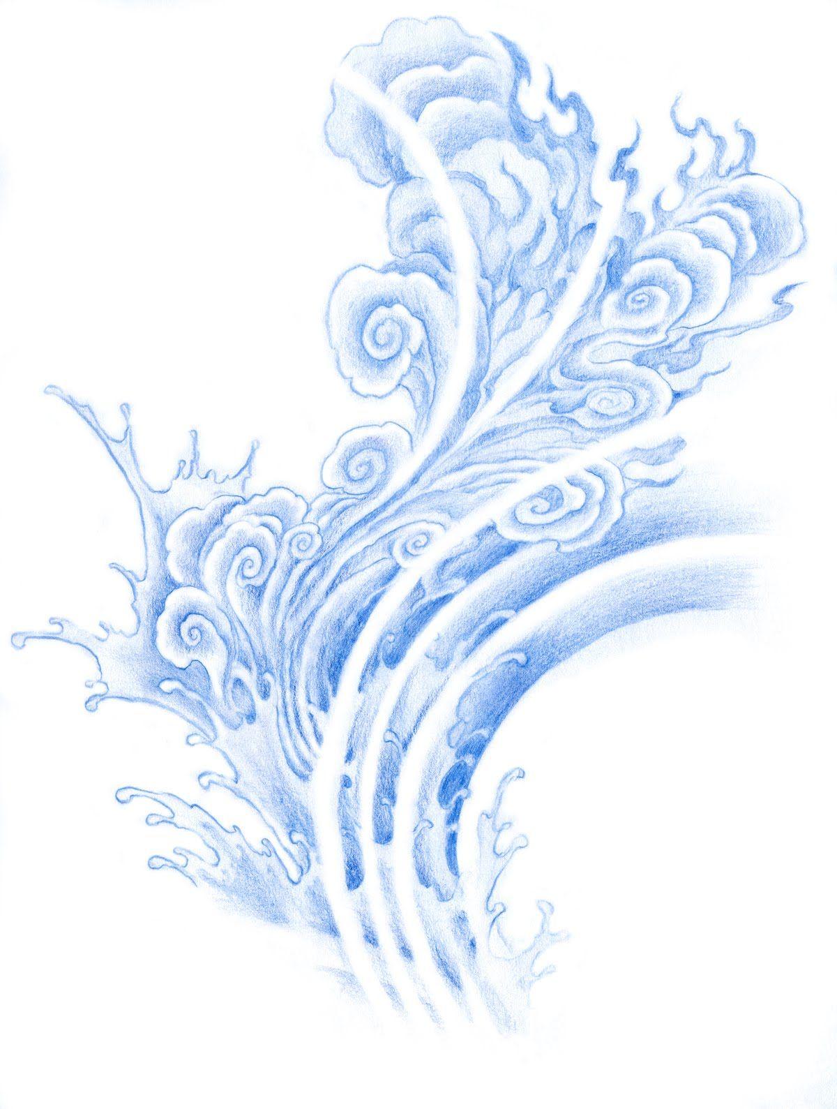 Cloud Tattoo Drawing: Island Of Heaven Art Piece