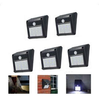 5PCS Applique Murale Extérieur Lampe Jardin Lampe LED Solaire Avec ...