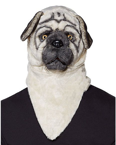 Halloween Mask Pug Dog Head Party Mask Headwear Party Festival