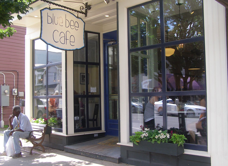 Blue Bee Cafe Delhi Ny Cafe Blue Cafe Book Cafe