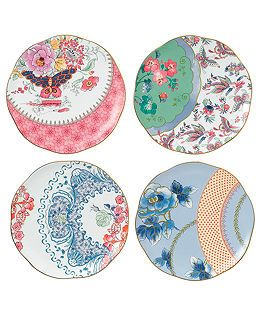 Wedgewood Butterfly Bloom Collection Plates