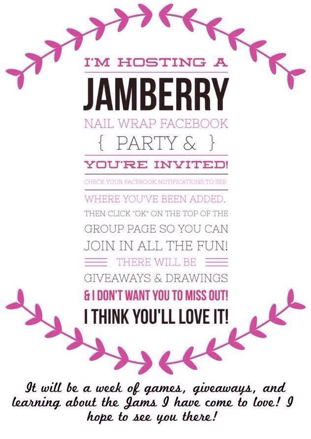 facebook party invite  jamberry    facebook parties, party invitations