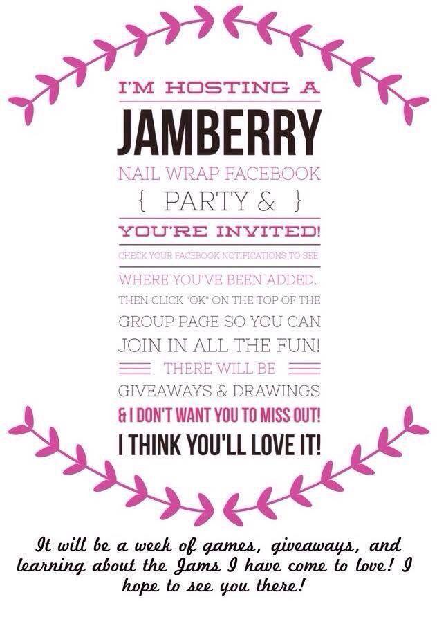 Facebook party invite | Jamberry | Pinterest | Jamberry, Jamberry ...