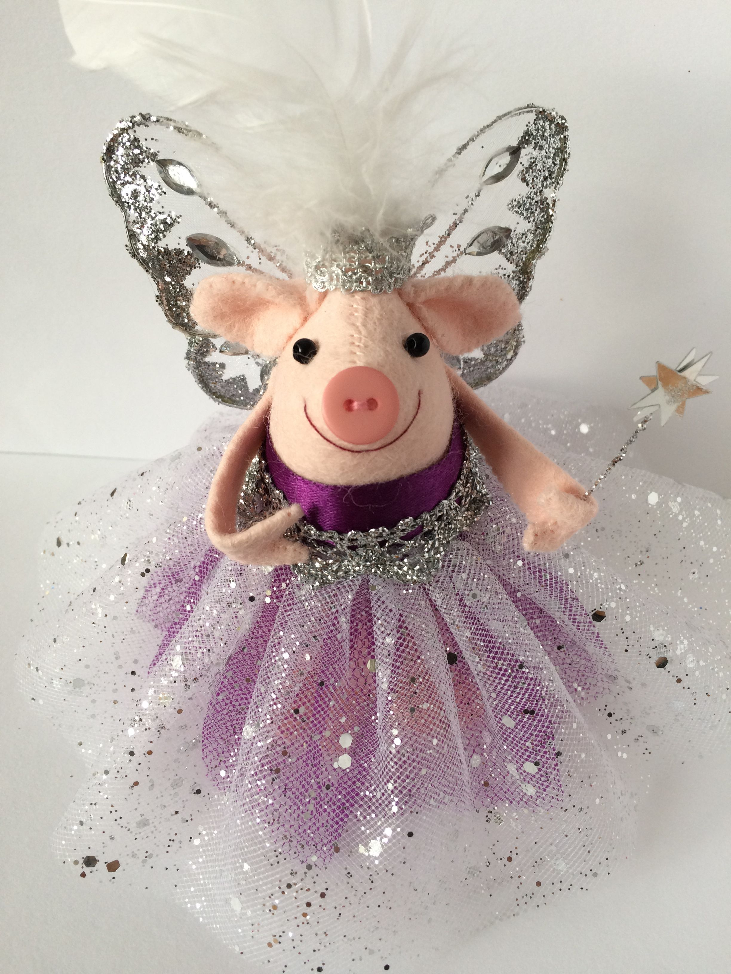 Bespoke Christmas Fairy Pig Tree Topper To Coordinate With