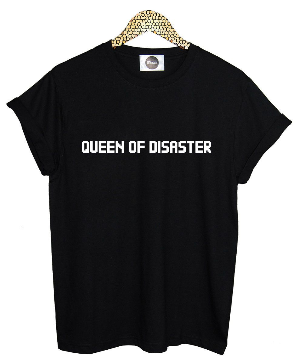 c89eb5aab5ed Click to Buy    QUEEN OF DISASTER T SHIRT TEE TOP WOMENS FUN TUMBLR ...
