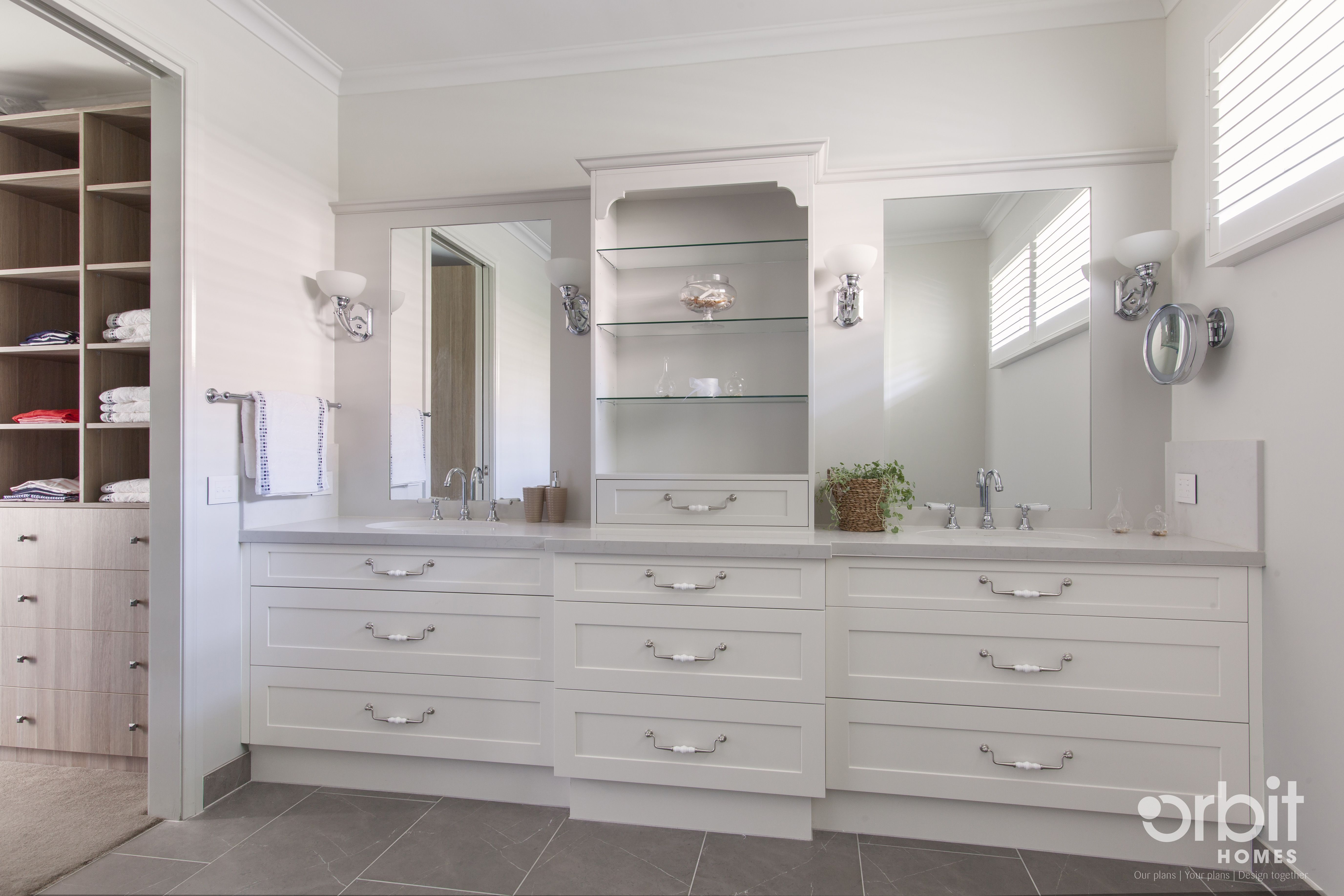 Hamptons Style Ensuite And Walk In Robe Classic Finishes For The Brilliant Bathroom Remodel Stores Decorating Inspiration