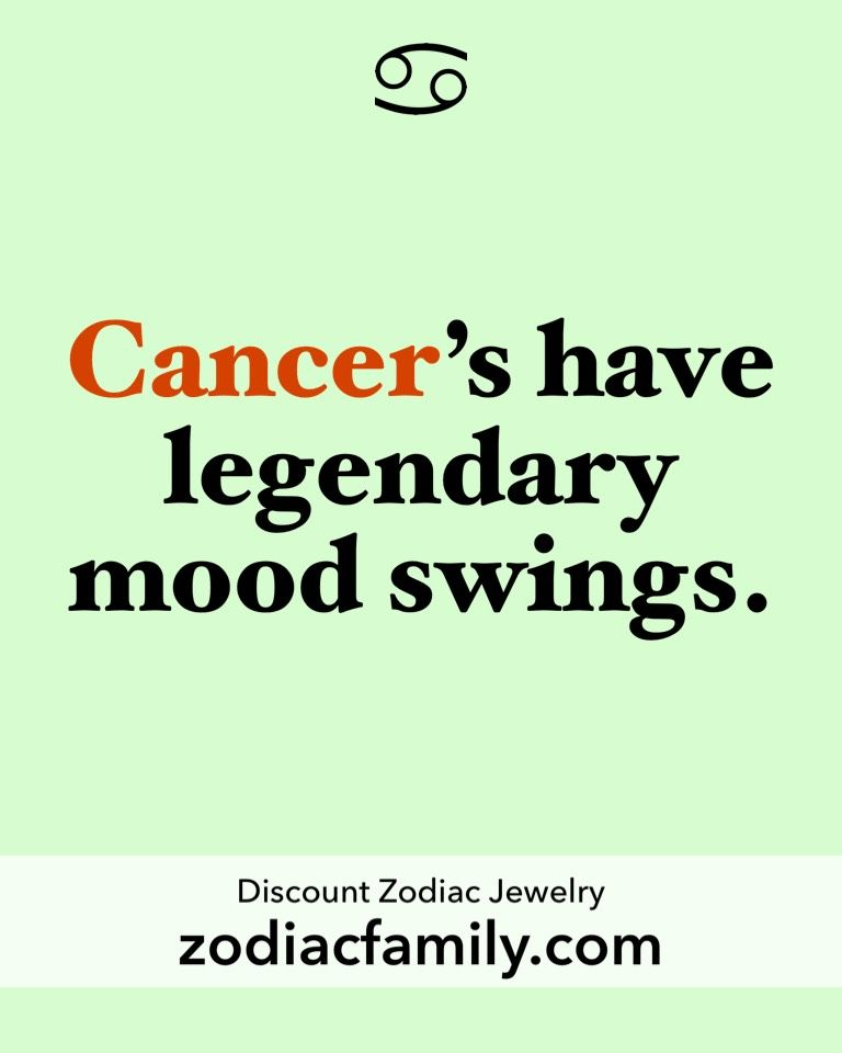 How to deal with cancerian mood swings