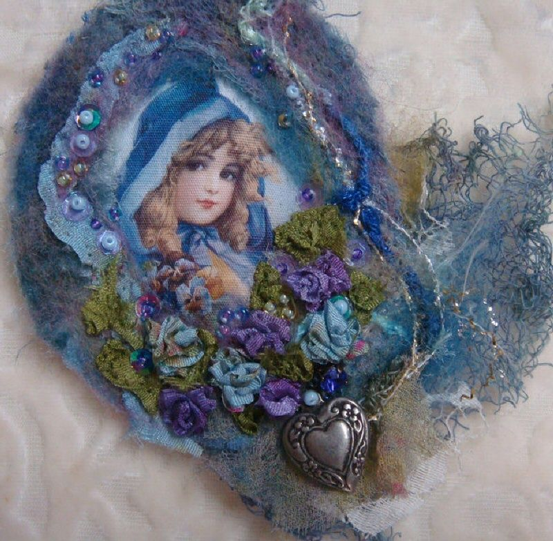 I ❤ crazy quilting, beading & ribbon embroidery . . . Another Felted Brooch ~By Pat Winter