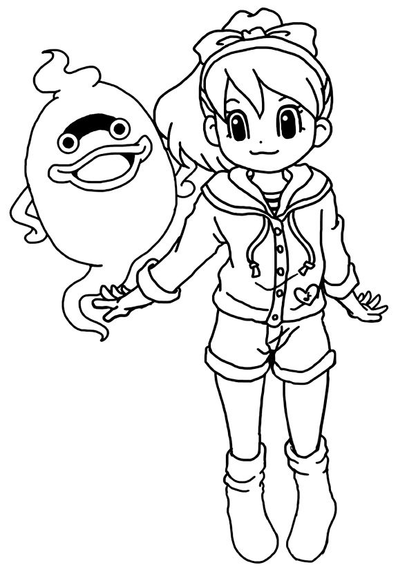 Coloriage Yo Kai Watch Gratuit A Imprimer Yokaiwatch Coloringpage