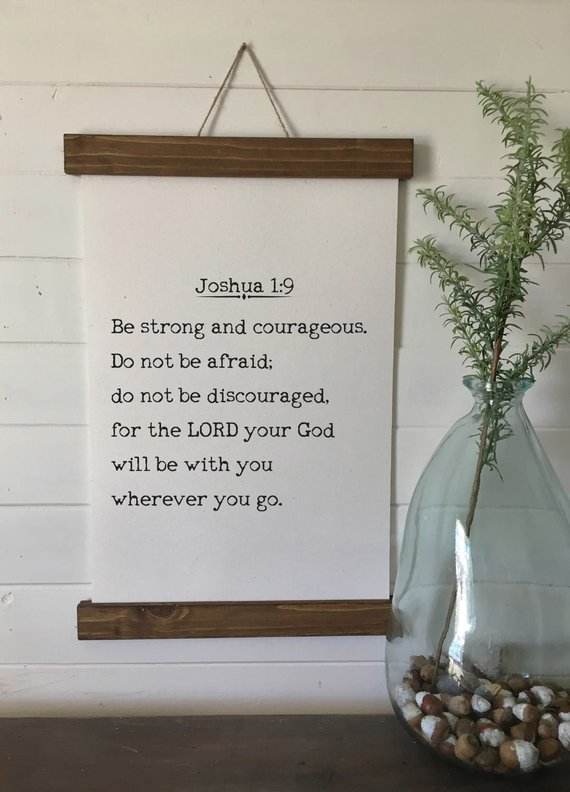 Be Strong And Courageous Joshua 1 9 Canvas Art Print Wall Etsy Bible Verse Canvas Art Canvas Art Prints Canvas Print Wall