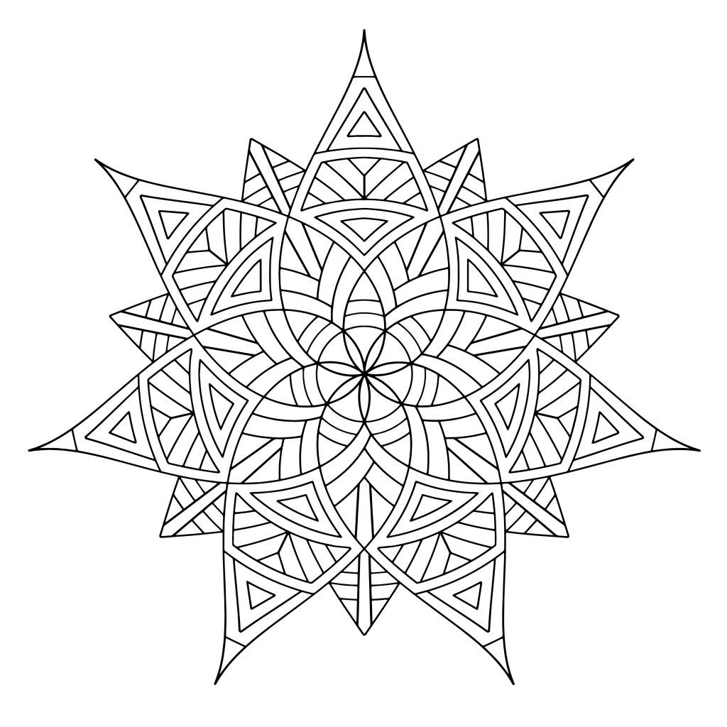 Free Printable Geometric Coloring Pages For Kids | Pinterest ...