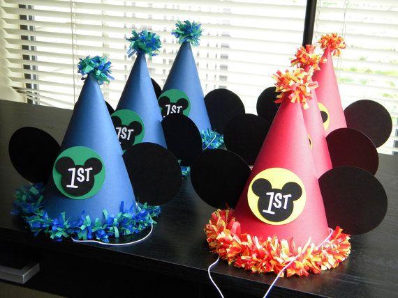 Sombreros de fiesta de Mickey Mouse juego de por 3SisterlyCreations ... 342c418b163