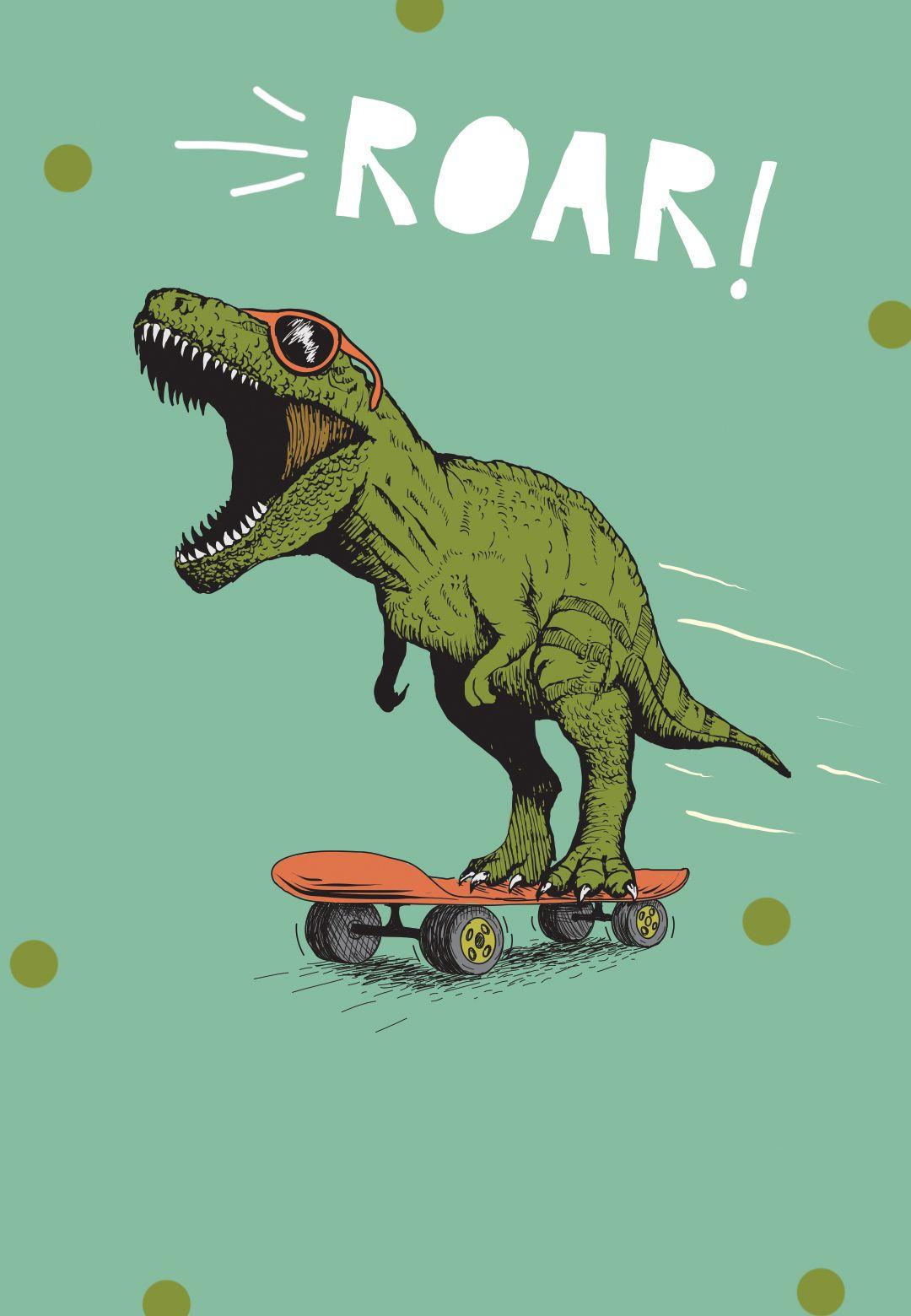 Dinosaur so cool - Birthday Invitation Template (free) | Greetings Island