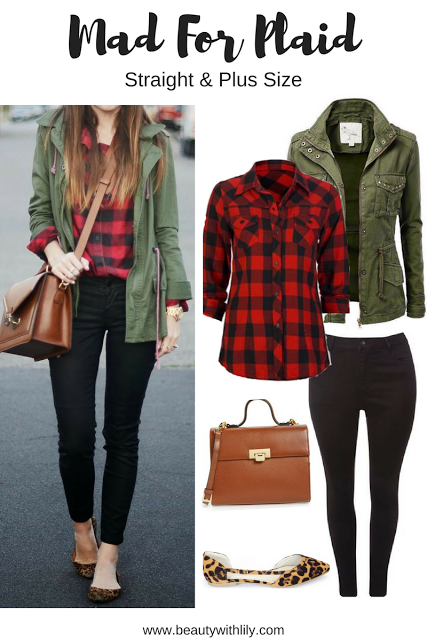 Fall Plaid Outfit Ideas   Regular & Plus Size