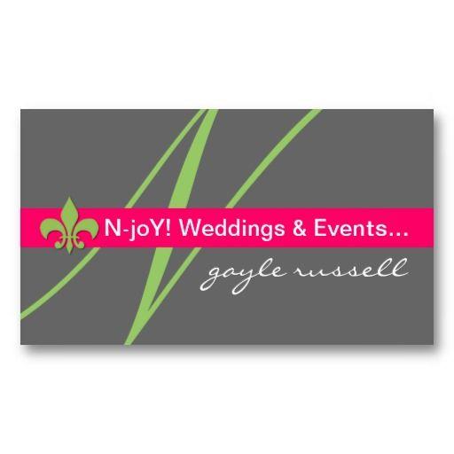 Monogram Fleur De Lis Event Planner Profile Card Event Planner