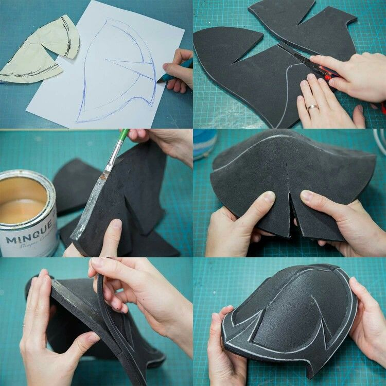 How To Make Shoulder Armor Out Of Craft Foam