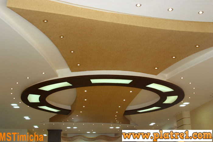 Design faux plafond des salons soci t d coration ms for Decoration des plafonds