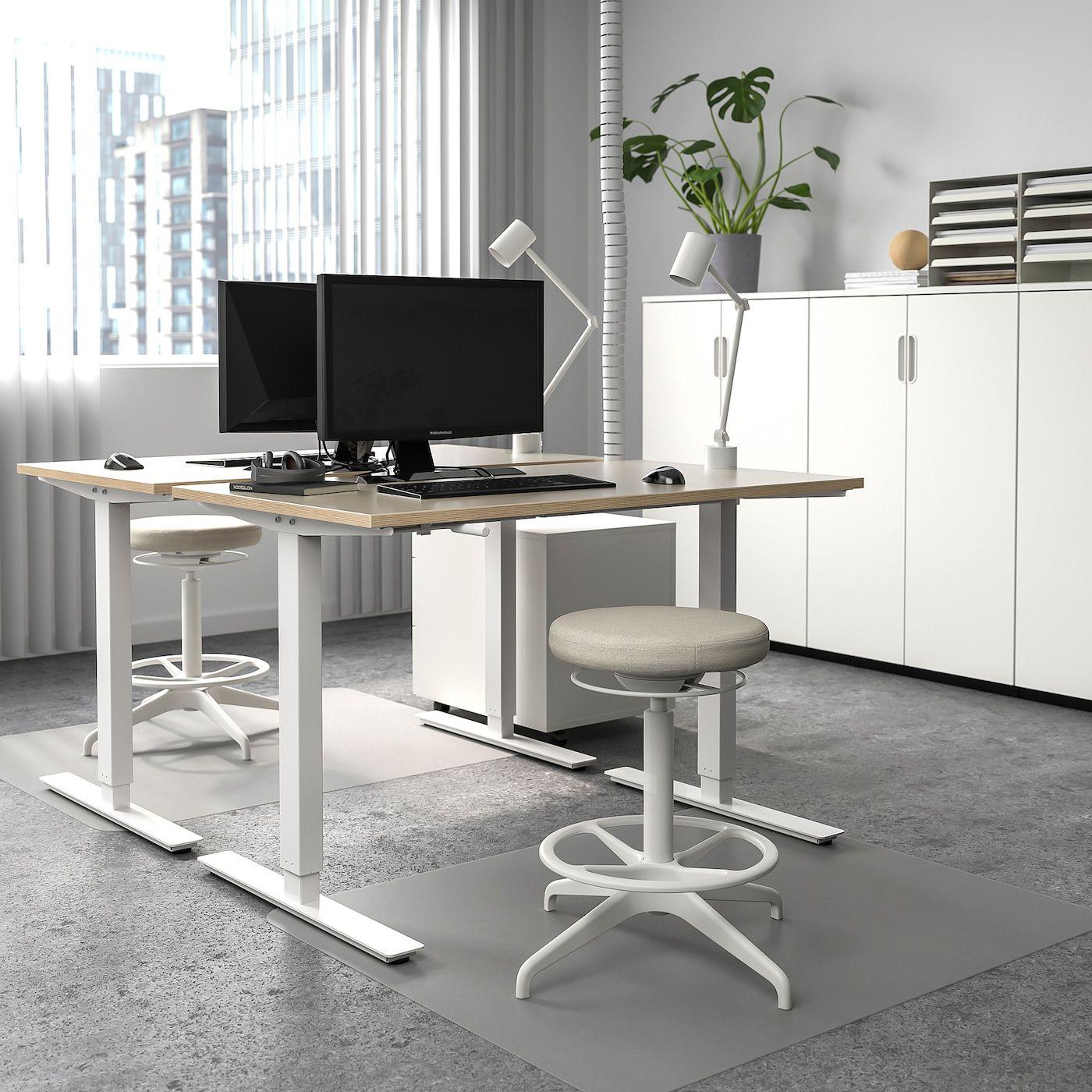 Skarsta Desk Sit Stand Beige White Ikea Canada Ikea In 2020 Ikea Standing Desk Home Office Design Standing Desk Office