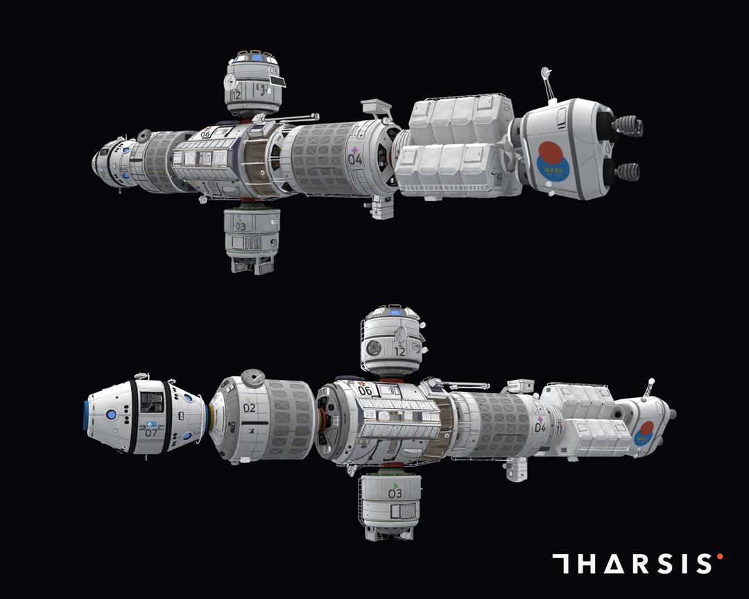 Tharsis Mars Transport Ship Space Ships Pinterest Spaceship