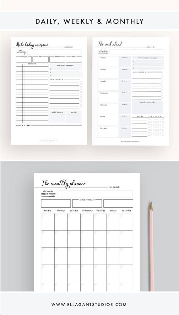 monthly day planner - Minimfagency