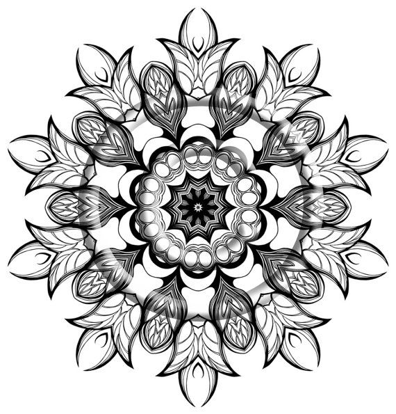 Digital Download Coloring Page Hand Drawn Zentangle by