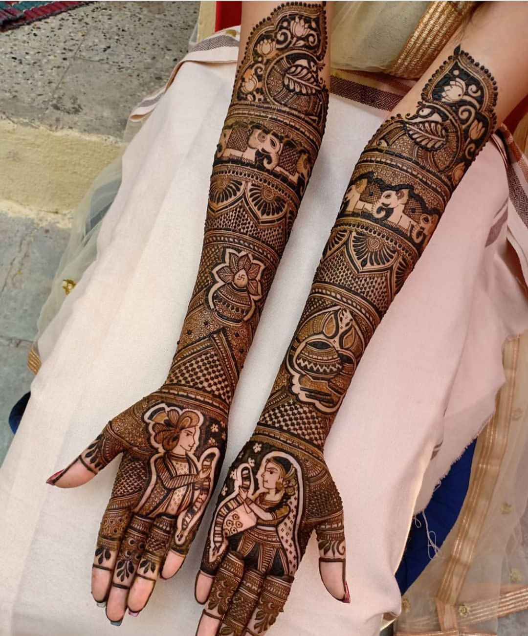 latest bridal mehndi design 2021