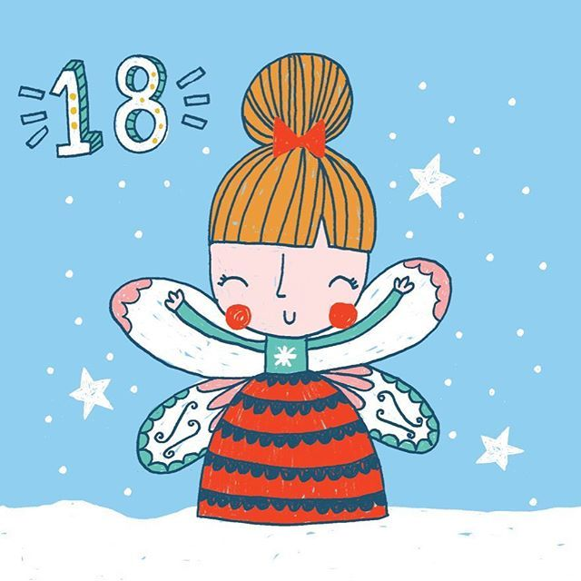 This week is going to be VERY hectic so I apologise if I don't keep up with insta posts. Day 18 ❄️⭐️ . . #design #designer #instaart #advent #december #adventcalendar #christmasfairy #snow #christmas #crimbo #countdowntochristmas #freelancedesign #freelanceillustrator #graphicdesign #pattern #greetingcards #festive #angel #illustrate #illustration #cute #fun #kids #childrensillustration #print #printpattern #surfacedesign #fairy #december18 #christmas2016