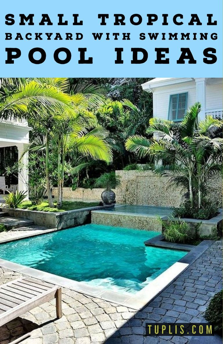 11 Small Tropical Backyard With Swimming Pool Ideas You Should Try Swimming Pools Backyard Small Backyard Pools Pool Landscape Design