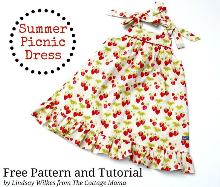 The Cottage Home: Summer Picnic Dress ~ Free PDF Pattern and ...