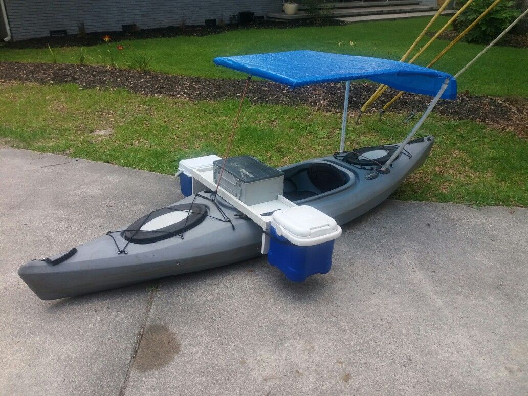 Kayak Outrigger Project Looks Interesting And You Could Fold It On Top