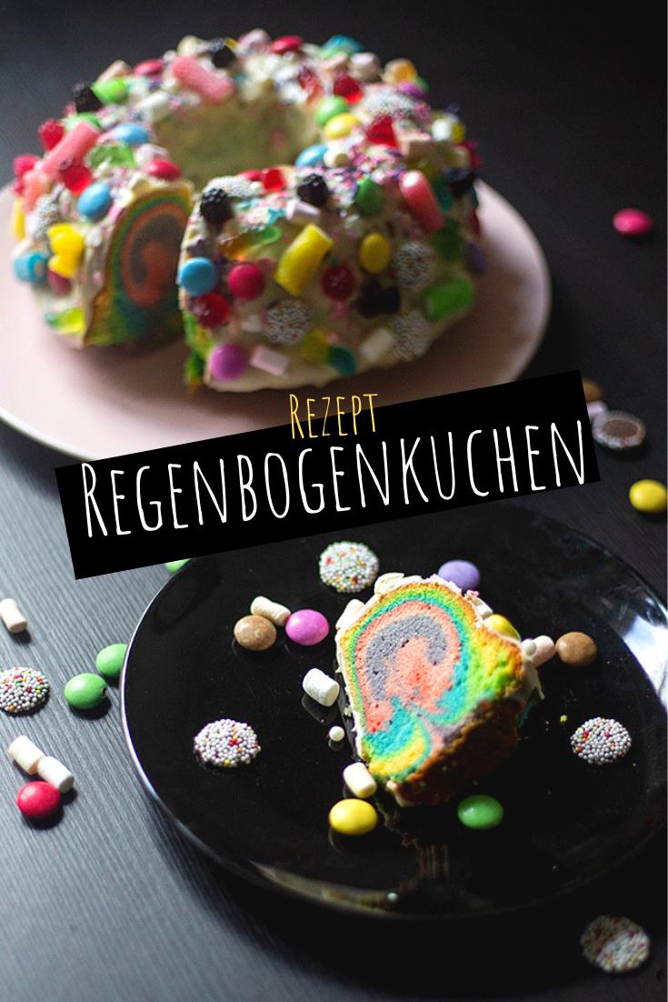 Ein kunterbunter Regenbogenkuchen