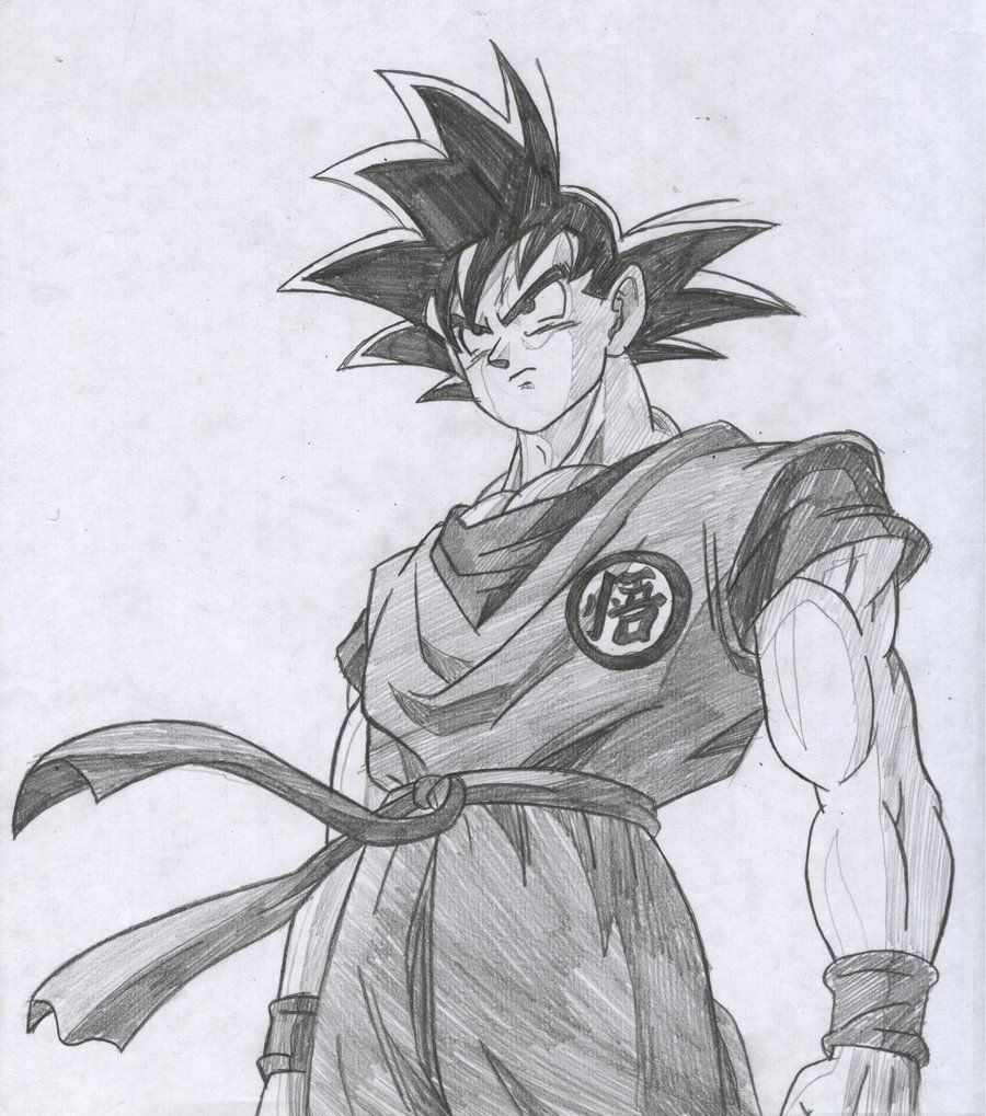 Goku drawings pencil pic 23 drawing and coloring for kids