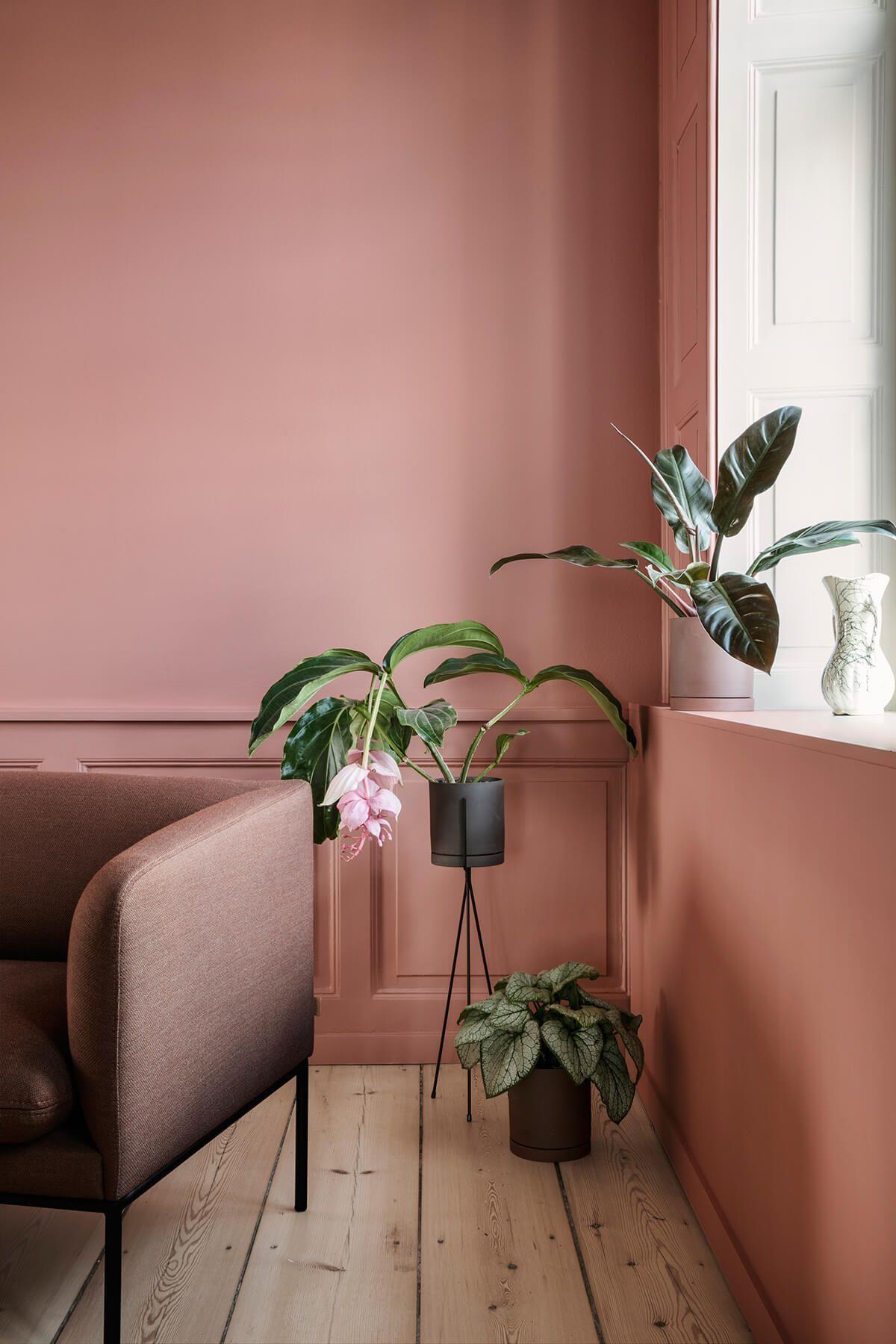 The Home, by Ferm Living  Couleur mur salon, Déco rose poudré et