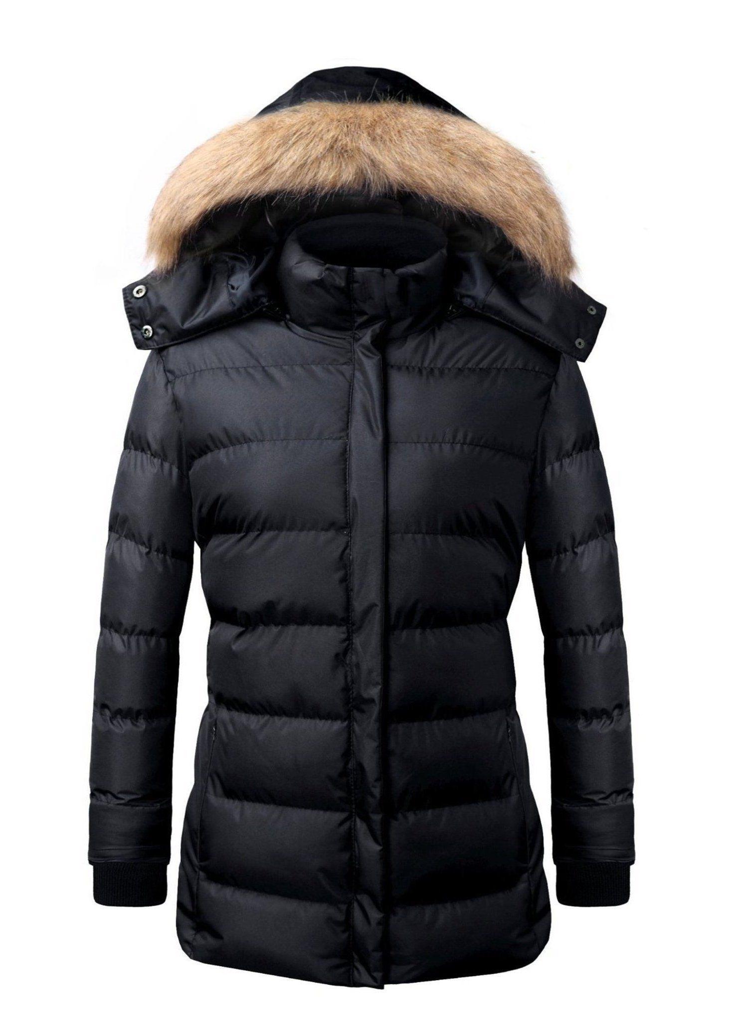 Women Jacket Coat Down Padded Hoody Praka Full Length Outwear Overcoat Winter nw